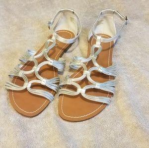 Lauren sz 9 flat sandals